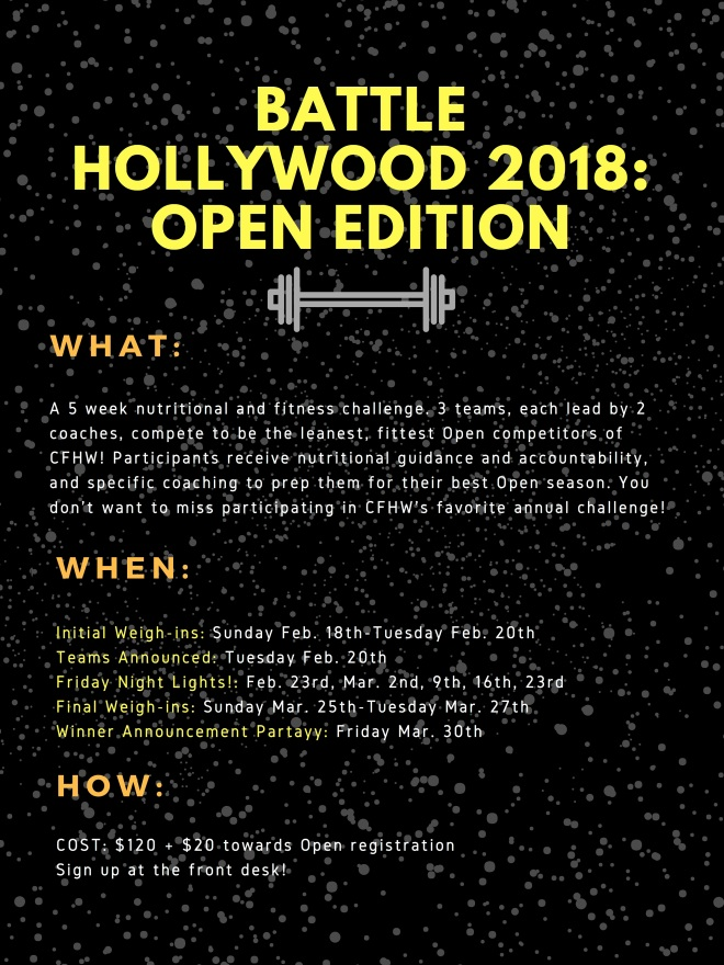 BATTLE HOLLYWOOD 2018_ Open Edition